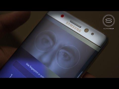 Galaxy Note 7 Iris Scanner Test (In Darkness)