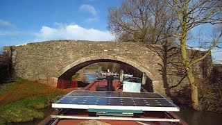 24/02/2015 Time-lapse Narrowboat trip - Pigeons Lock to Lower Heyford on the Oxford Canal