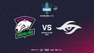 Virtus.pro  vs Team Secret, ESL  One Hamburg, bo3, game 2 [Maelstorm & Jam]