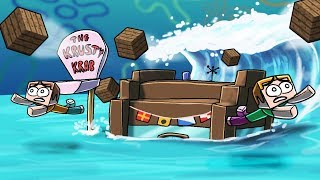 Minecraft | TSUNAMI BASE CHALLENGE - Tsunami Destroys Bikini Bottom! (Spongebob Base)