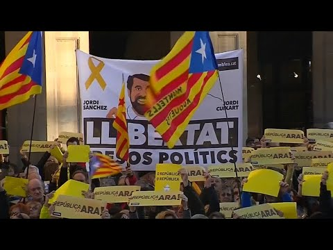 Barcelona demonstriert für die Unabhängigkeit Katalonie ...
