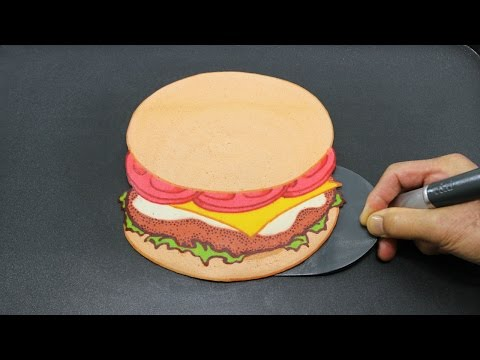 Hamburger pancake most oddly satisfying burger tube aeiou for 3 cakewalk terrace