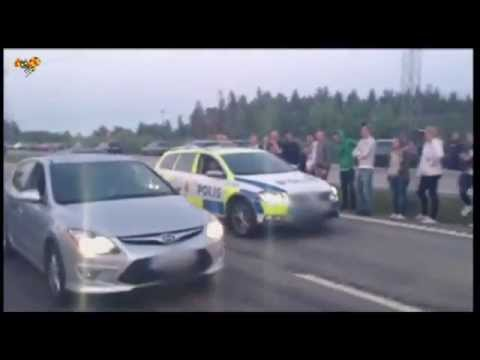 Police in Sweden deny a drag race actually happened