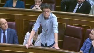 Íñigo Errejón en la Sesión de control al Gobierno el 1 de Febrero