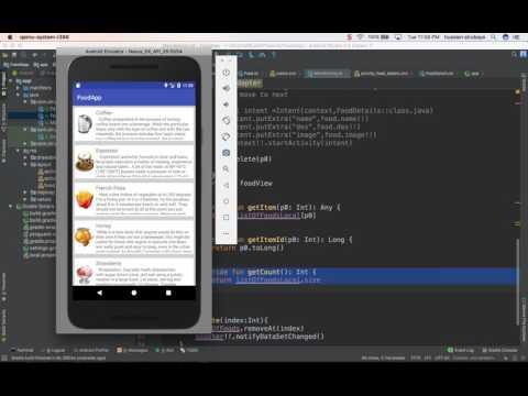 64- Android Food App || ListView Add or remove - تطبيق عالم الطبخ