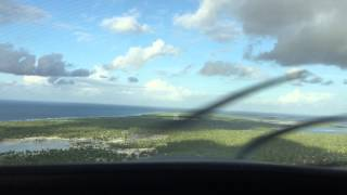 A beautiful sunset landing at Christmas Island in the Pacific.