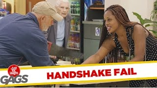 Super Glue Handshake Prank, Just for laughs, Just for laughs gags, Just for laughs 2015