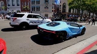Video Police NOT HAPPY - LOUD $2.3M Lamborghini Centenario MP3, 3GP, MP4, WEBM, AVI, FLV Oktober 2017