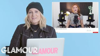 Video Meghan Trainor Watches Fan Covers On YouTube | You Sang My Song | Glamour MP3, 3GP, MP4, WEBM, AVI, FLV September 2018