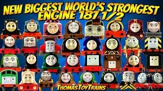 NEW BIGGEST Thomas and Friends 187 1/2 World's Strongest Engine Trackmaster Plarail ThomasToyTrains