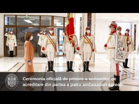 Президент Майя Санду приняла верительные грамоты четырех послов