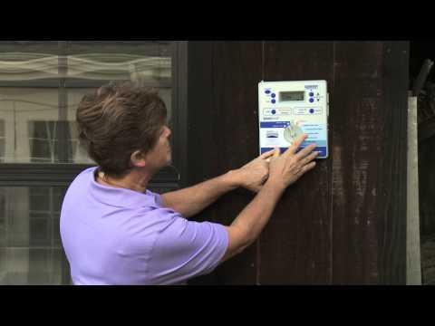 Using the Watering % Adjust on a Sprinkler Timer