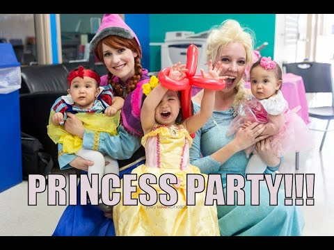 Twin's Disney Princess Party!!!- March 07, 2015 ItsJudysLife Vlogs