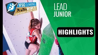 IFSC Youth World Championships Moscow 2018 - Youth A & Juniors Lead Finals Highlights by International Federation of Sport Climbing