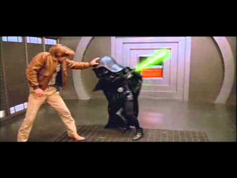 Schwartz - Lonestar and Dark Helmet's epic ligtsaber battle from Spaceballs.