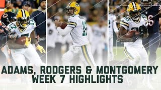 Rodgers, Adams, & Montgomery Combine for Over 500 Yards!   (Week 7 Highlights)   NFL by NFL
