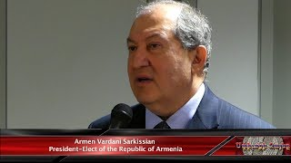 Armenia's President-elect Armen Sarkissian Visited AGBU's Central Office in NY