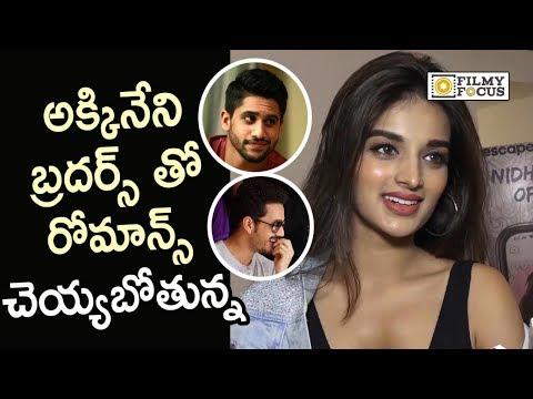 Nidhi Agarwal about Naga Chaitanya, Akhil Movies | Savyasachi Movie - Filmyfocus.com