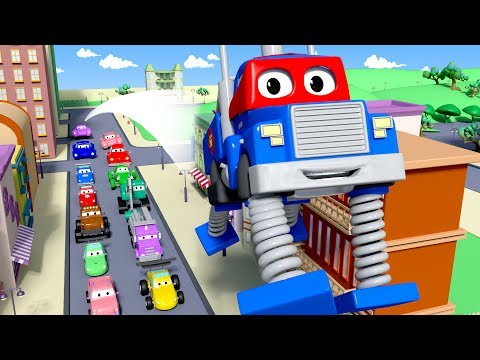 Carl the Super Truck is The Spring Truck in Car City| Trucks Cartoon for kids