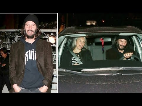 Keanu Reeves Goofs Off With Fans After Dinner With Alexandra Grant