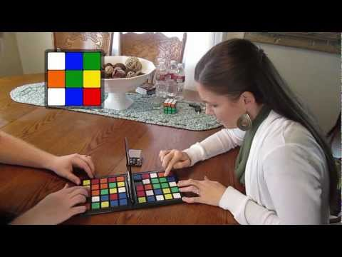 Playing Rubik's Race With My Wife!