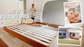putting together furniture + new backyard tour + target haul! by Aspyn + Parker