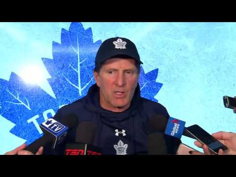 Maple Leafs Practice: Mike Babcock - January 18, 2017