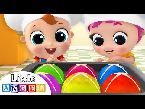 Hot Cross Buns In the Oven, Yummy! | Nursery Rhymes by Little Angel - Thời lượng: 8 phút, 22 giây.