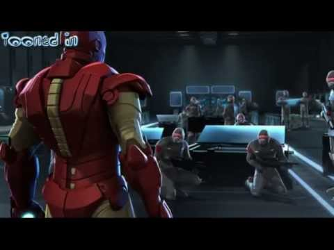Iron Man And Captain America Heroes United Scene