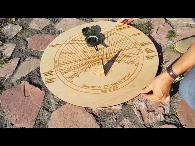 Солнечные часы из фанеры