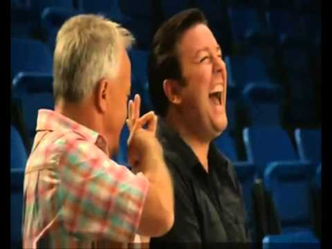 Ricky Gervais & Keith Chegwin took 4 hours to film this 30 second scene because they couldn't stop laughing. RIP Cheggers