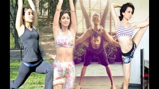 Kareena Kapoor,Shilpa Shetty,Kangana Ranaut Celebrate World International Yoga Day