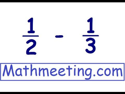 Adding Fractions - different denominators