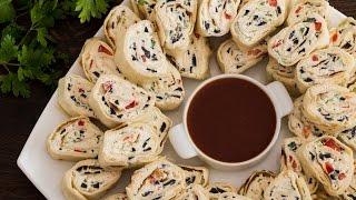 Tortilla Pinwheels Recipe by Home Cooking Adventure