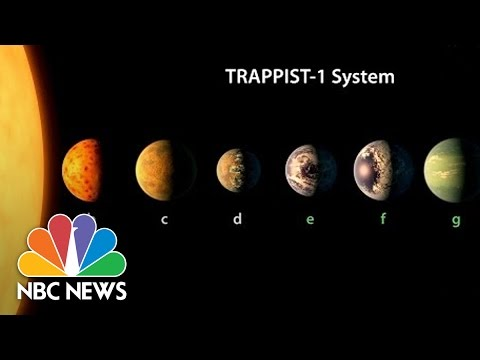 NASA Announces Discovery of 7 New Planets, 3 In 'Habitable Zone' | NBC News (видео)