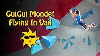 GuiGui Mondet, Flying in Vail | Sunday Sends by OnBouldering