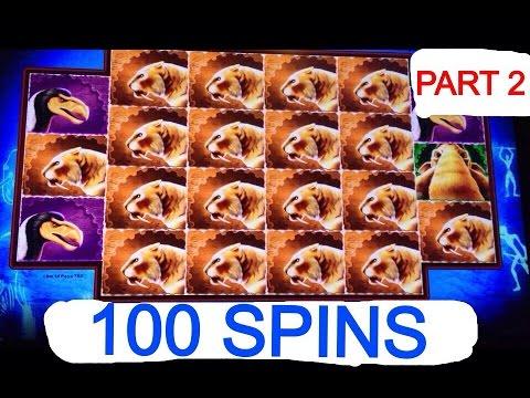 **100 SPINS** MASTODON slot machine Bonus (Part 2)