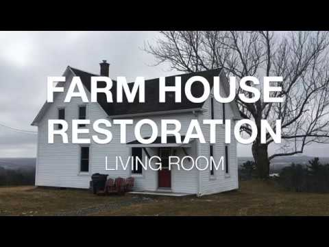 Couple Renovated 100 Year Old Farm House Living Room for Under