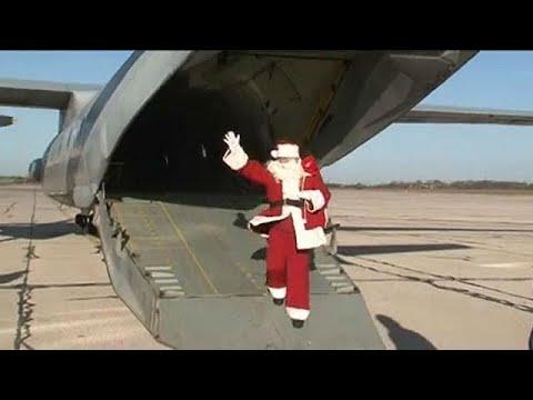 Σερβία: Με αεροπλάνο έφτασε ο Άγιος Βασίλης