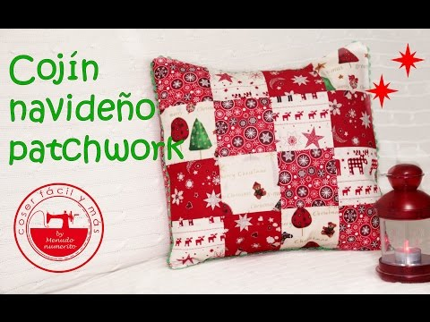 patchwork – cuscino natalizio