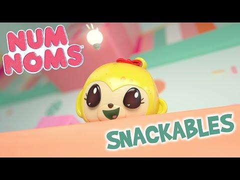 Num Noms | Becky Banana's Donut Delight | Snackables Cartoon Webisode | Episode 11