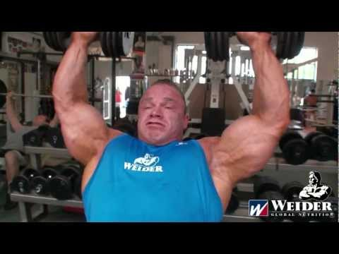 Rockel - Ronny Rockel Shoulders & Triceps - 7 weeks out of the 2011 Mr. Olympia www.weider-news.de.