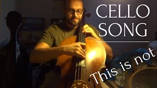 Video This Is Not a Cello Song by Jan Skalak
