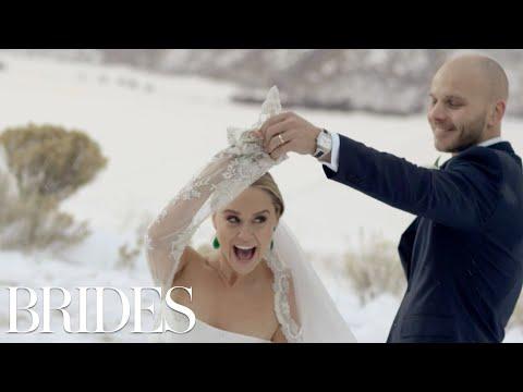 It's a Glee Reunion! Watch Becca Tobin's Emotional Wedding Video   Brides (видео)