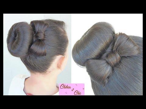 Peinado: Recogido/Dona con Lazo!! – Hairstyle: Donut Bun Bow