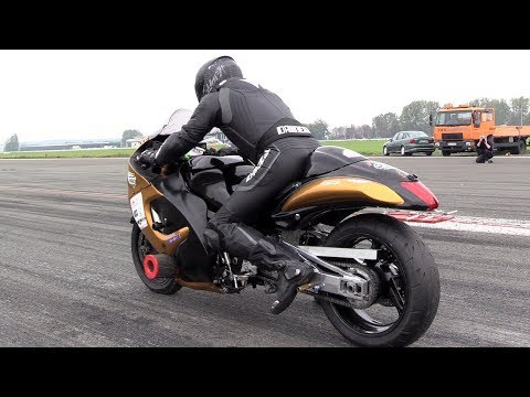 500hp Hayabusa Turbo - 331,76 Km/h In 1/2 Mile Acceleration!