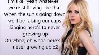 Video Here's to never growing up Lyrics - Avril Lavigne MP3, 3GP, MP4, WEBM, AVI, FLV Agustus 2018