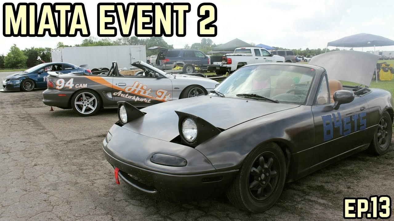 The Miata's Second Event! : MX-5 Miata NA Drift Build Ep.12 (Autocross)