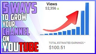 Previous Video by Brenden: https://goo.gl/wmhWhj Link To Twitter: https://twitter.com/Alex_OfficialYTLink to Application: https://goo.gl/ujpT0DIn this video I am going to talk about 5 Ways to Grow Your Youtube Channel. Essentially Growing your channel on youtube is really simple. The video I made essentially shows you one of the fastest ways to get views on youtube, more specifically 5 Ways to get more views.