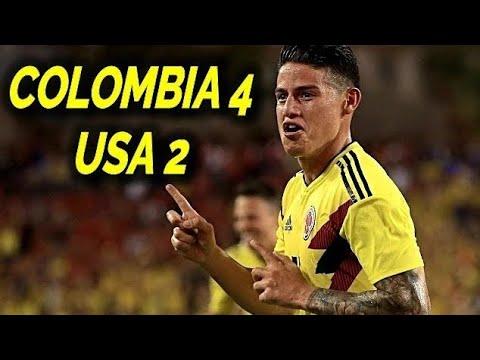 Estados Unidos 2-4 Colombia Resumen Todos Los Goles 2018